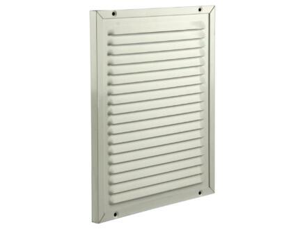 Renson grille estampée avec cadre 200x250 mm aluminium blanc
