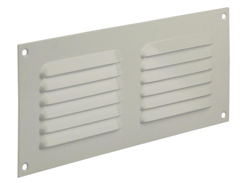Renson grille estampée avec cadre 250x100 mm aluminium blanc