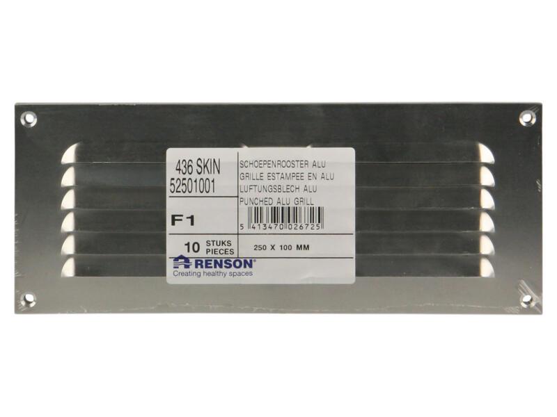 Renson grille estampée avec cadre 250x100 mm aluminium