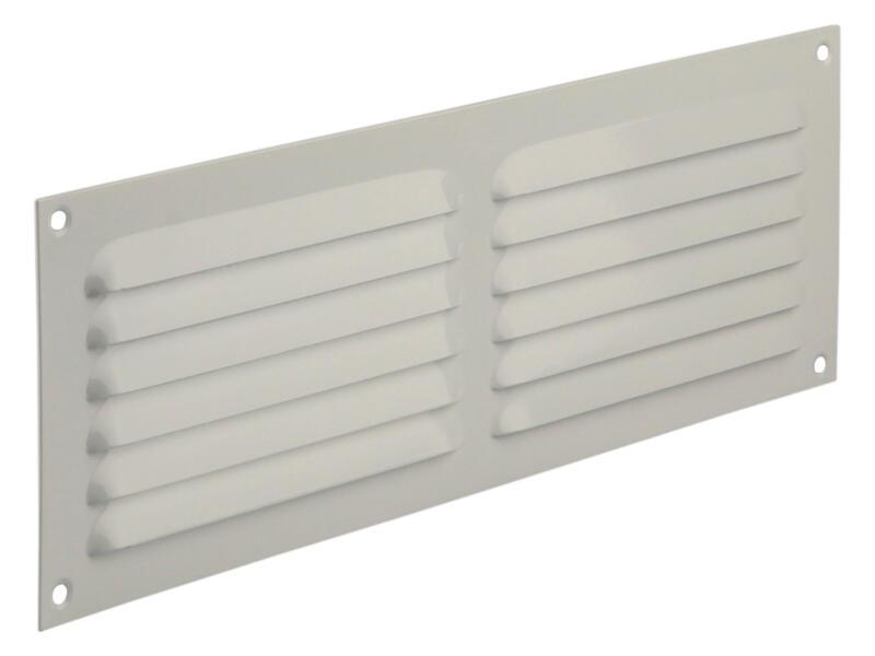 Renson grille estampée avec cadre 300x100 mm aluminium blanc