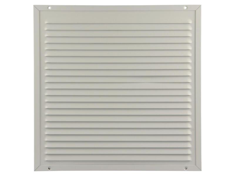 Renson grille estampée avec cadre 300x300 mm aluminium blanc