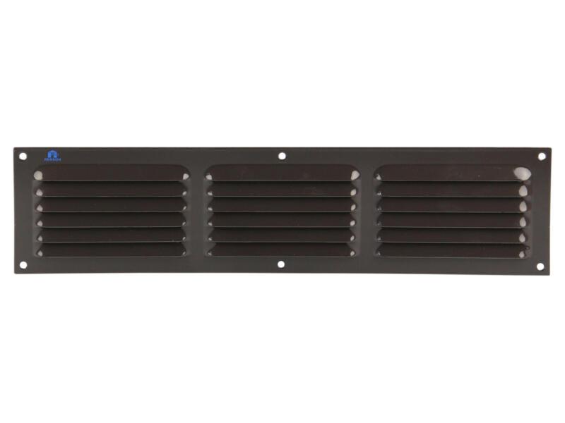Renson grille estampée avec cadre 400x100 mm aluminium brun