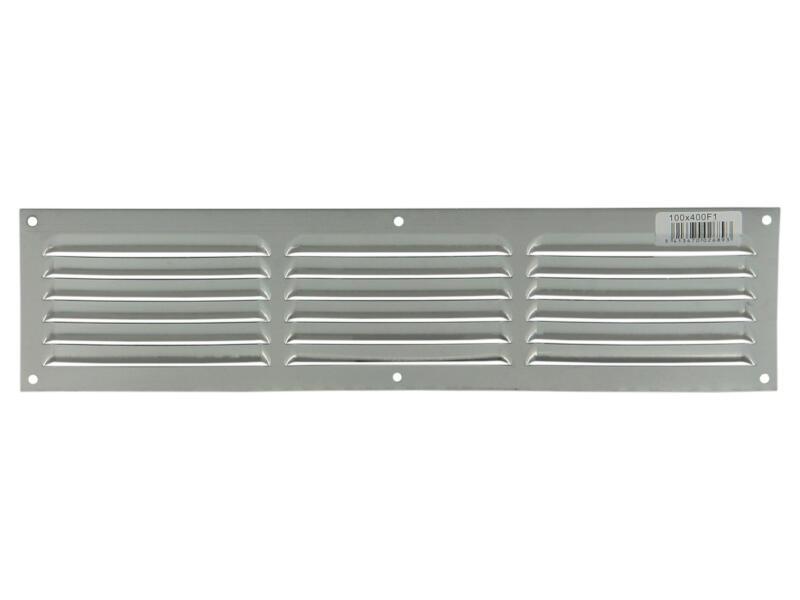 Renson grille estampée avec cadre 400x100 mm aluminium