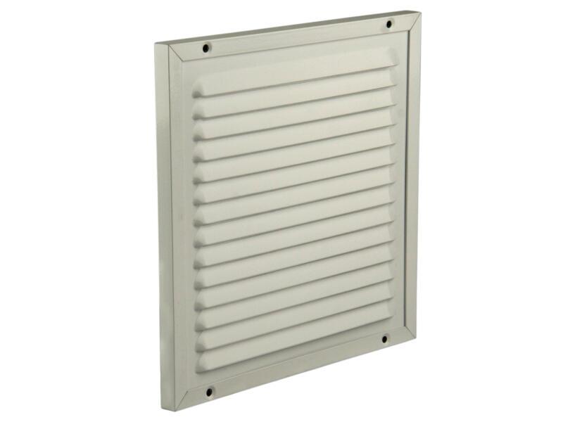 Renson grille estampée avec cadre à poser 200x200 mm aluminium blanc