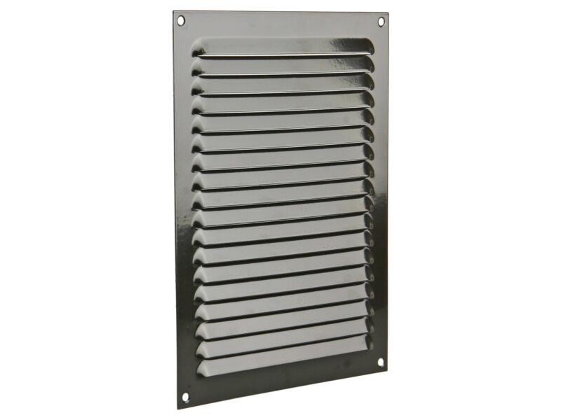 Renson grille estampée plate 200x250 mm aluminium brun gris