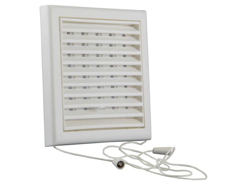 Renson grille estampée réglable 154x154 mm PVC blanc