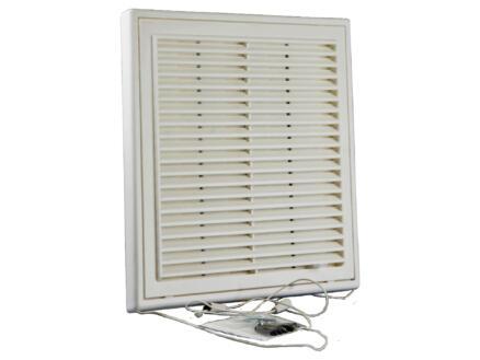 Renson grille estampée réglable 250x250 mm PVC blanc