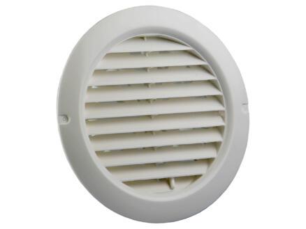 Renson grille estampée réglable ronde 100-150 mm PVC blanc