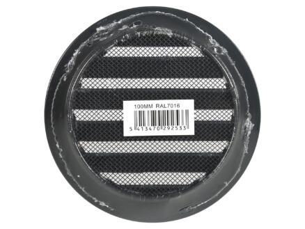 Renson grille estampée ronde 100mm aluminium anthracite