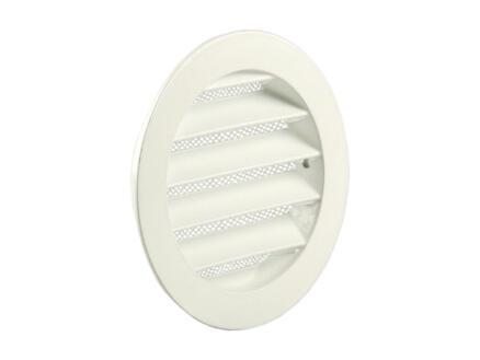Renson grille estampée ronde 100mm aluminium blanc