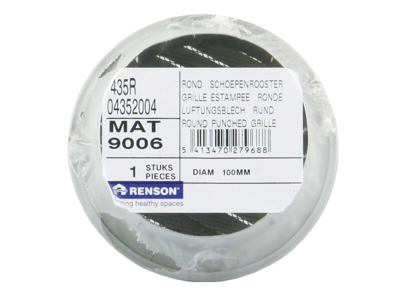 Renson grille estampée ronde 100mm aluminium gris