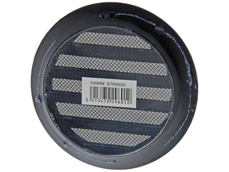 Renson grille estampée ronde 100mm aluminium noir