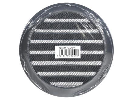 Renson grille estampée ronde 125mm aluminium anthracite