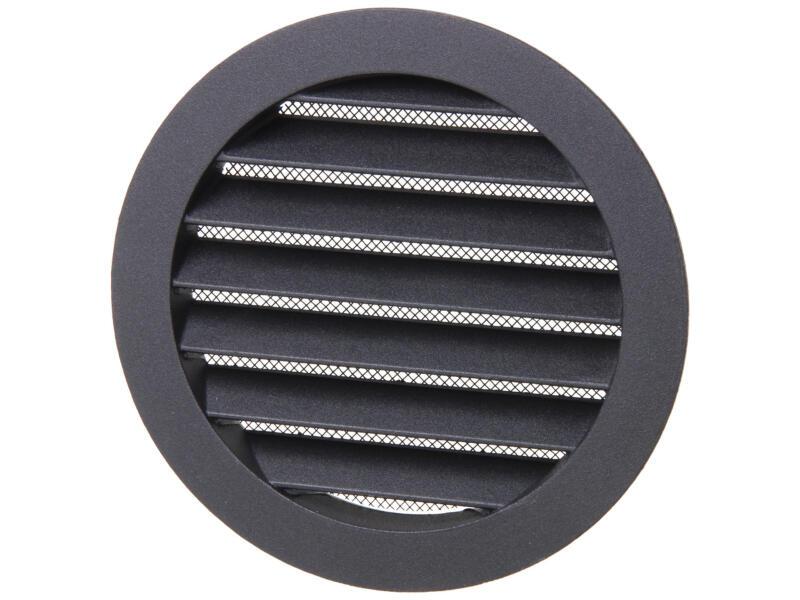 Renson grille estampée ronde 125mm aluminium noir