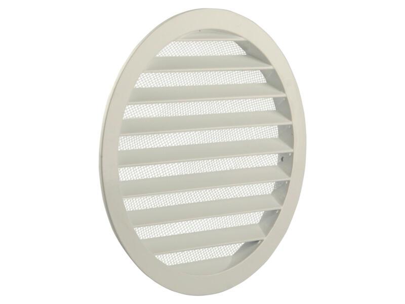 Renson grille estampée ronde 200mm aluminium blanc