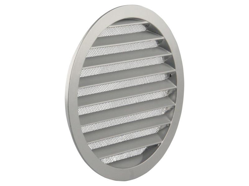 Renson grille estampée ronde 200mm aluminium gris