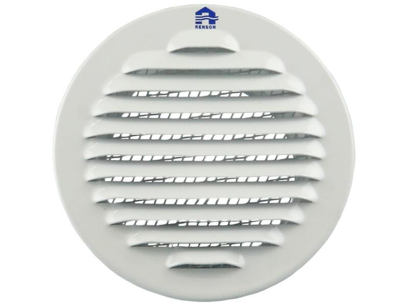Renson grille estampée ronde 80mm aluminium blanc