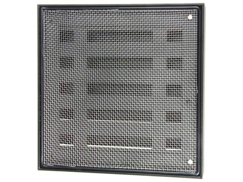 Renson grille murale 165x165 mm aluminium noir