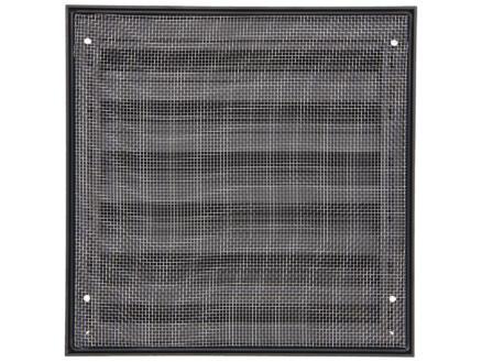 Renson grille murale 225x225 mm aluminium noir