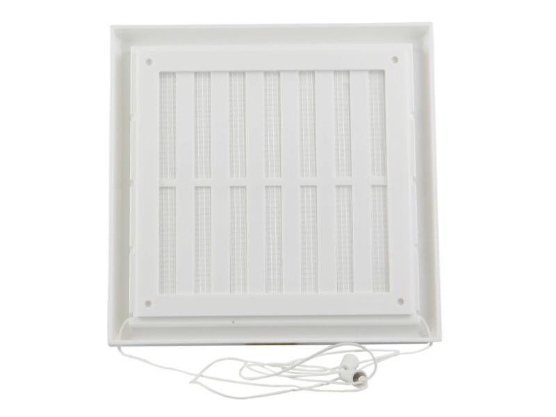 Renson grille réglable 187x187 mm PVC blanc