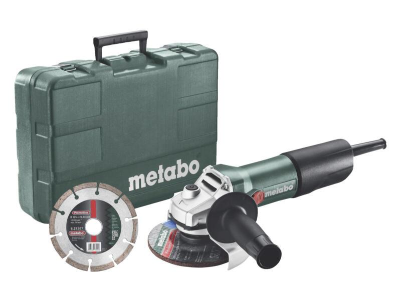 Metabo haakse slijper 850W 125mm + accessoires