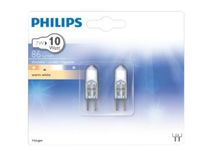 Philips halogeen capsulelamp G4 10W 2 stuks