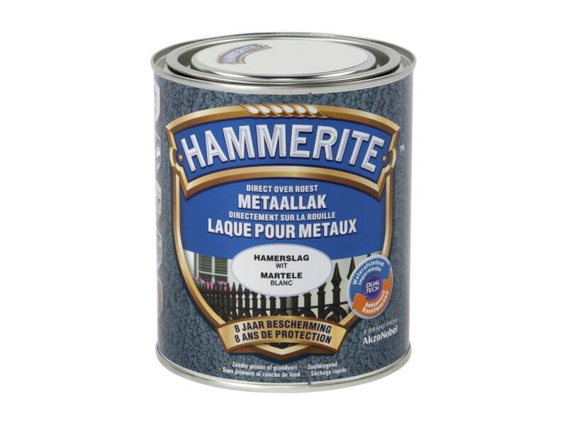 Hammerite hamerslaglak 0,75l wit
