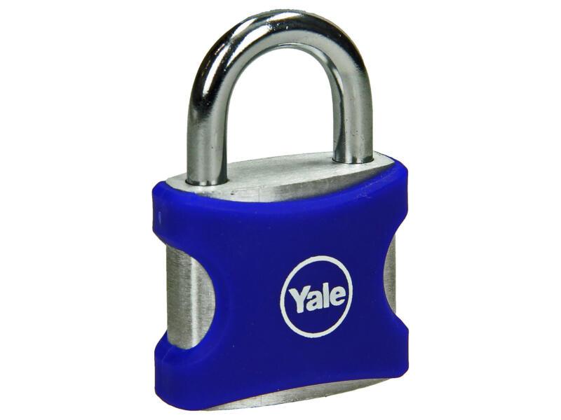 Yale hangslot met bescherming 32mm blauw