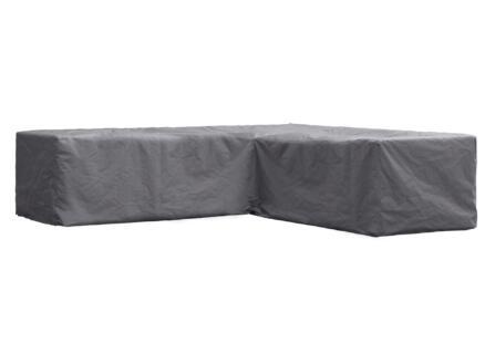 Perel hoes voor L-vormige loungeset 250x250x70 cm grijs