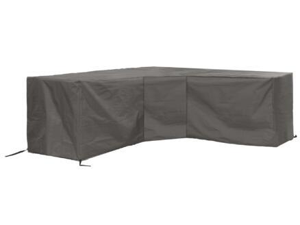 Perel hoes voor L-vormige loungeset 275x275x70 cm grijs