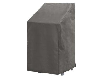Perel housse pour chaises empilables 128x66x66 cm gris