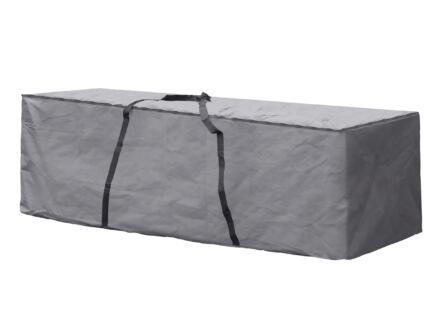 Perel housse pour coussins XL 200x75x60 cm gris