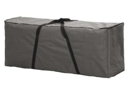 Perel housse pour coussins de jardin 125x50x40 cm gris