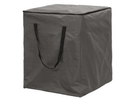 Perel housse pour coussins de jardin 90x75x75 cm gris