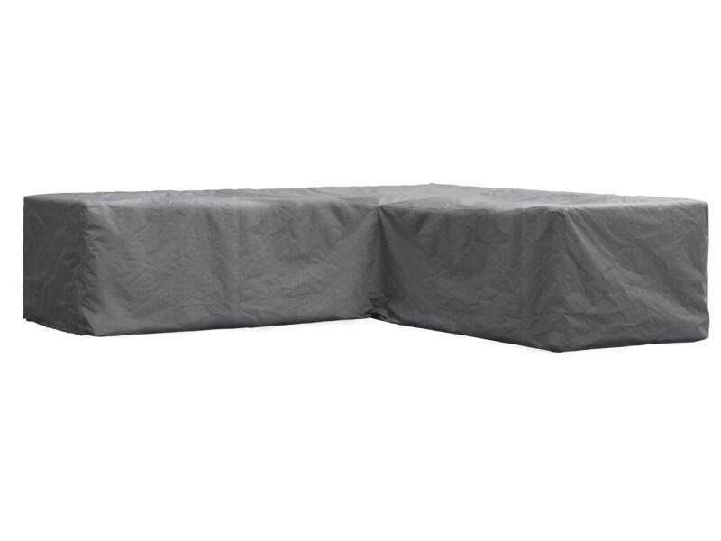 Perel housse pour salon de jardin en L 250x250x70 cm gris | Hubo