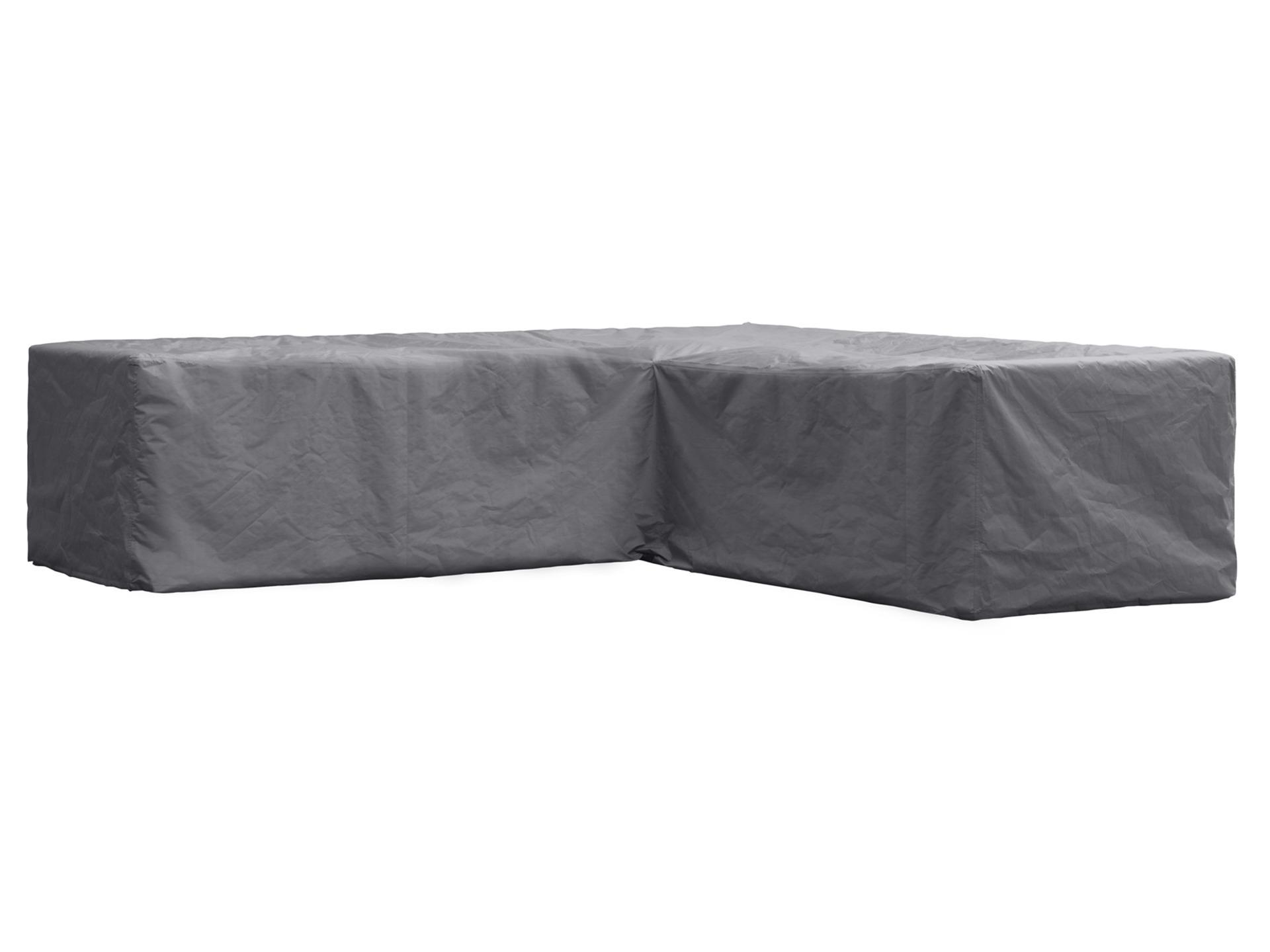 Perel housse pour salon de jardin en L 300x300x70 cm gris