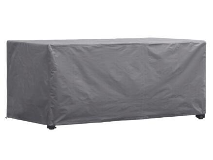 Perel housse pour table de jardin 165x105x75 cm gris