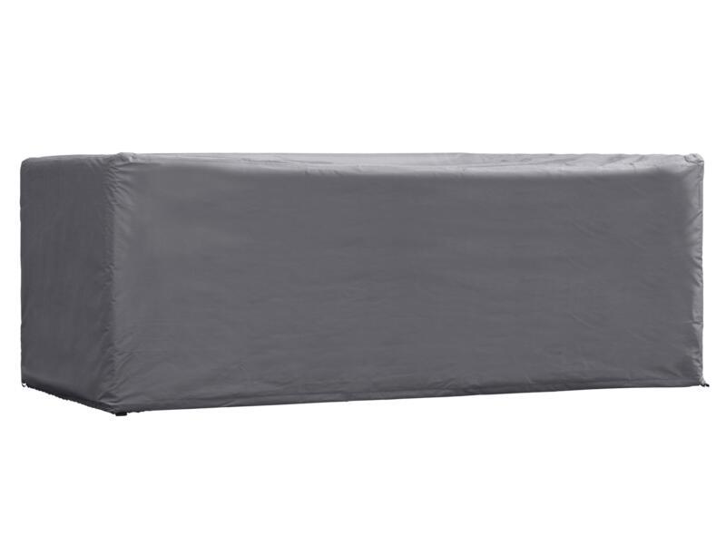 Perel housse pour table de jardin 185x105x75 cm gris