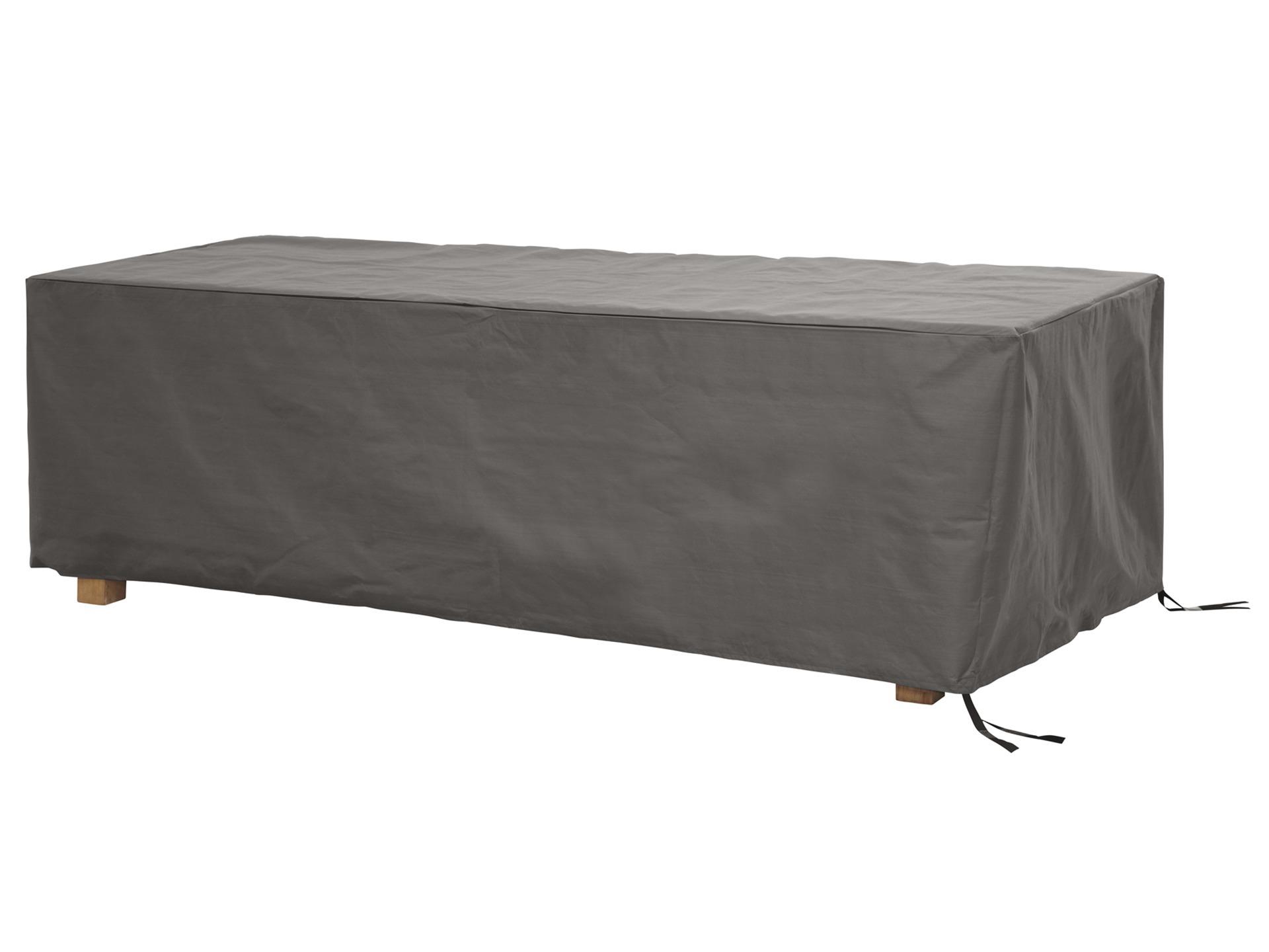 Perel housse pour table de jardin 225x105x75 cm gris
