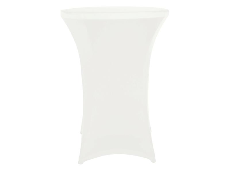 Toolland housse pour table haute 115cm blanc