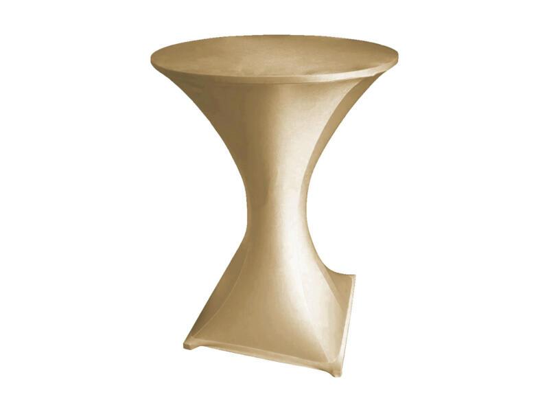 Toolland housse pour table haute 115cm champagne