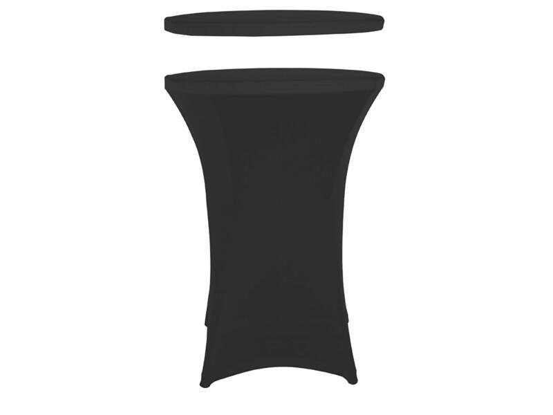 Toolland housse pour table haute 115cm noir