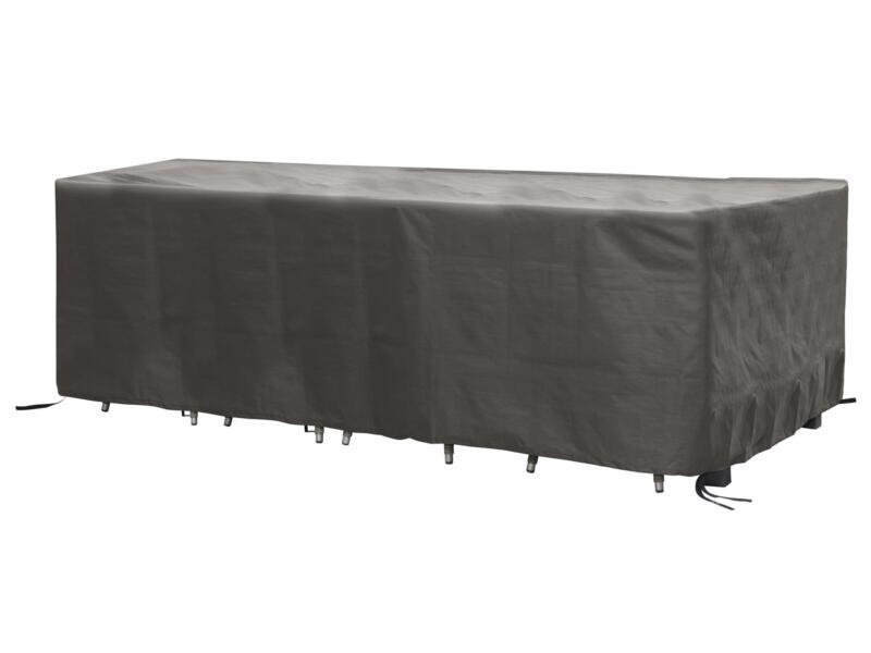 Perel housse rectangulaire pour ensemble de jardin XXL 310x180x95 cm gris