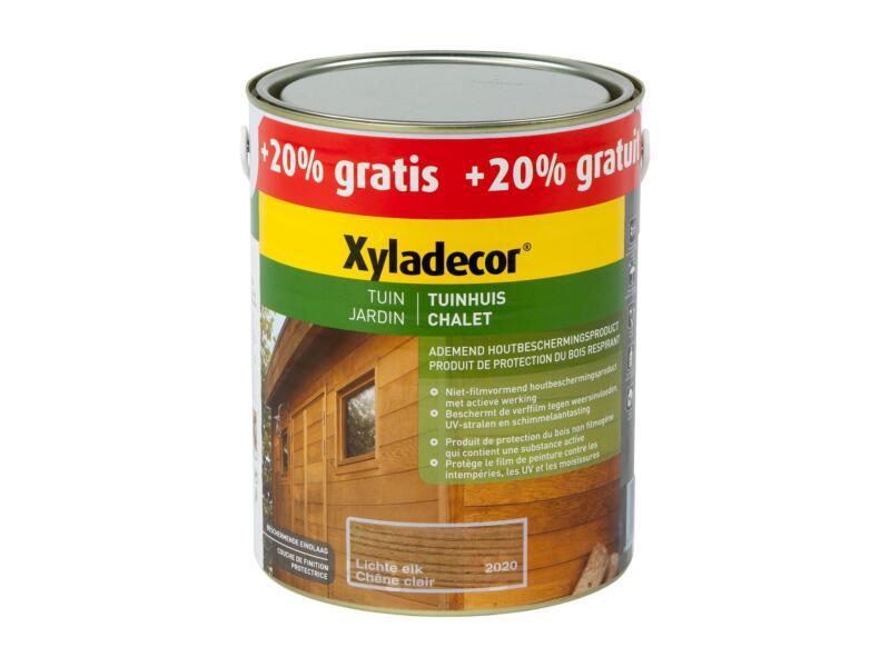 Xyladecor houtbeits tuinhuis 2,5l + 0,5l lichte eik
