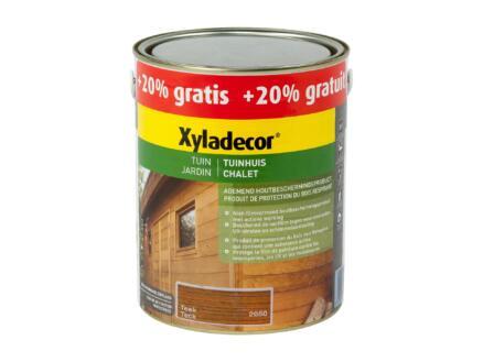 Xyladecor houtbeits tuinhuis 2,5l + 0,5l teak