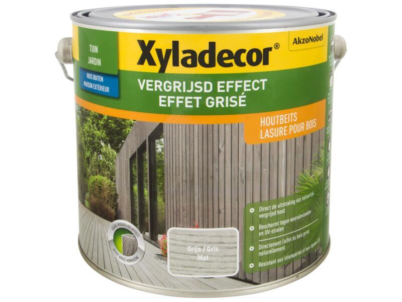 Xyladecor houtbeits vergrijsd effect 2,5l grijs