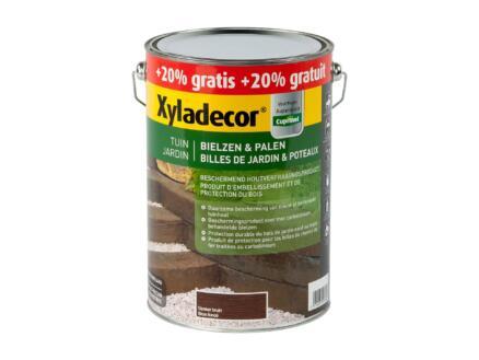 Xyladecor houtbescherming bielzen & palen 6l donkerbruin