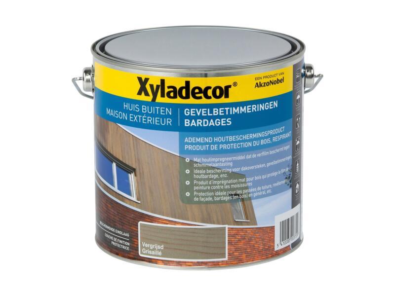 Xyladecor houtbescherming gevelbetimmering 2,5l vergrijsd