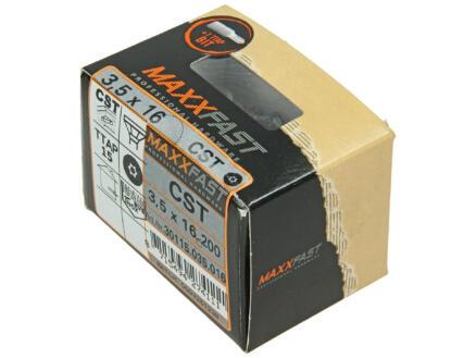Maxxfast houtschroeven universeel CST 3,5x16 mm inox 200 stuks