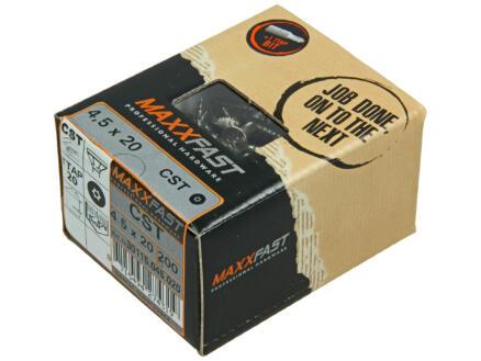 Maxxfast houtschroeven universeel CST 4,5x20 mm inox 200 stuks